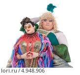 Купить «Два смешных актера травести в женских образах», фото № 4948906, снято 11 августа 2013 г. (c) Discovod / Фотобанк Лори
