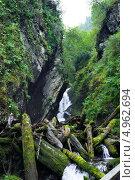 Водопад горного Алтая (2013 год). Редакционное фото, фотограф Виктор Храмов / Фотобанк Лори