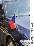 Купить «Флаг Чехии», фото № 4980026, снято 7 июля 2013 г. (c) Николай Комаровский / Фотобанк Лори