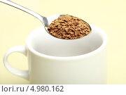 Купить «Растворимый кофе», эксклюзивное фото № 4980162, снято 22 августа 2013 г. (c) Яна Королёва / Фотобанк Лори