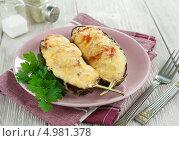 Купить «Баклажаны, фаршированные овощами под сыром», фото № 4981378, снято 21 августа 2013 г. (c) Надежда Мишкова / Фотобанк Лори