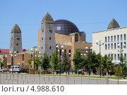 Купить «Чечня, Грозный. Здание Национального музея Чеченской Республики на проспекте Путина», эксклюзивное фото № 4988610, снято 20 августа 2013 г. (c) A Челмодеев / Фотобанк Лори
