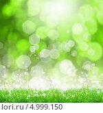 Купить «Красивый летний фон с зеленой травой и эффектом боке», фото № 4999150, снято 26 июня 2019 г. (c) Sergey Nivens / Фотобанк Лори