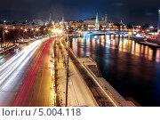 Ночная Москва рядом с Кремлем. Стоковое фото, фотограф Джесур Кючюк / Фотобанк Лори
