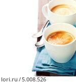 Купить «Кофе на голубой салфетке», фото № 5008526, снято 30 мая 2013 г. (c) Наталия Кленова / Фотобанк Лори