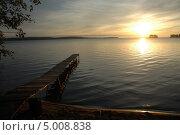 Закат на озере. Стоковое фото, фотограф Солотчина Марина / Фотобанк Лори