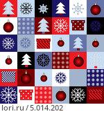 Купить «Бесшовный фон на новогоднюю тему», иллюстрация № 5014202 (c) Касьянова Татьяна / Фотобанк Лори