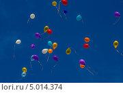 Воздушные шары в небе. Стоковое фото, фотограф Дмитрий Зубаркин / Фотобанк Лори