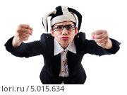 Бизнес-леди в шутовском колпаке. Стоковое фото, фотограф Elnur / Фотобанк Лори