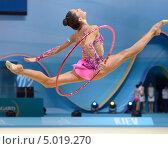 Купить «Neta Rivkin, Израиль, на Чемпионате мира по художественной гимнастике в Киеве», фото № 5019270, снято 28 августа 2013 г. (c) Stockphoto / Фотобанк Лори