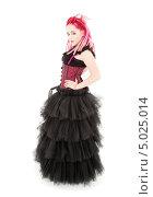 Купить «Неформальная девушка в пушистом черном платье с розовыми дредами», фото № 5025014, снято 15 ноября 2008 г. (c) Syda Productions / Фотобанк Лори