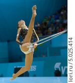 Carolina Rodriguez, Испания, на Чемпионате мира по художественной гимнастике в Киеве, фото № 5025414, снято 30 августа 2013 г. (c) Stockphoto / Фотобанк Лори