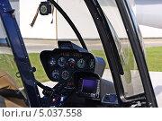 Купить «Вертолет Robinson R44 Clipper II. Приборная панель», фото № 5037558, снято 24 августа 2013 г. (c) Евгений Клеменков / Фотобанк Лори