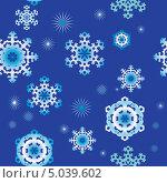 Бесшовный фон со снежинками. Стоковая иллюстрация, иллюстратор Александра Шкиндерова / Фотобанк Лори