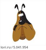 Мультипликационный рисунок грустной собаки-бульдога. Стоковая иллюстрация, иллюстратор Марина Дычек / Фотобанк Лори