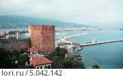 Купить «Кызыл Куле - символ Алании, Турция, таймлапс», видеоролик № 5042142, снято 1 августа 2013 г. (c) Павел С. / Фотобанк Лори
