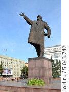 Купить «Памятник В. И. Ленину в Кемерово», фото № 5043742, снято 24 августа 2013 г. (c) александр афанасьев / Фотобанк Лори