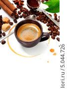 Купить «Натюрморт с чашкой кофе», фото № 5044726, снято 30 мая 2013 г. (c) Наталия Кленова / Фотобанк Лори