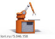 Робот манипулятор. Стоковая иллюстрация, иллюстратор Руслан Багаутдиинов / Фотобанк Лори