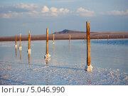 Купить «Соленое озеро Баскунчак», фото № 5046990, снято 29 июня 2013 г. (c) Алексей Шлыков / Фотобанк Лори