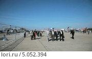 Купить «Международный авиационно-космический салон МАКС-2013», видеоролик № 5052394, снято 14 сентября 2013 г. (c) Игорь Долгов / Фотобанк Лори