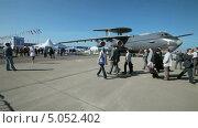 Международный авиационно-космический салон МАКС-2013. А-50 - самолёт дальнего радиолокационного обнаружения и управления. Редакционное видео, видеограф Игорь Долгов / Фотобанк Лори