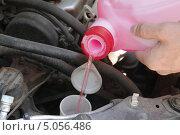 Купить «Мужчина заливает жидкость в бачок омывателя автомобиля», эксклюзивное фото № 5056486, снято 29 июня 2013 г. (c) Илюхина Наталья / Фотобанк Лори