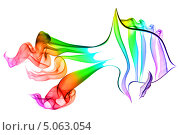 Разноцветный дым в форме рыбы. Стоковое фото, фотограф Вероника Конкина / Фотобанк Лори