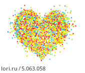 Сердце из сладкой кондитерской посыпки. Стоковое фото, фотограф Вероника Конкина / Фотобанк Лори