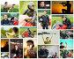 Коллаж с фотографиями мужчины с оружием или на мотоцикле, фото № 5063142, снято 21 октября 2016 г. (c) BestPhotoStudio / Фотобанк Лори