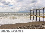 Осенний шторм на Черном море. Стоковое фото, фотограф Владимир Сергеев / Фотобанк Лори