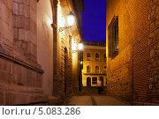 Купить «Улица в Толедо ночью», фото № 5083286, снято 22 августа 2013 г. (c) Яков Филимонов / Фотобанк Лори