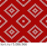 Купить «Бесшовная вязаная текстура с квадратиками», иллюстрация № 5086966 (c) Евгения Малахова / Фотобанк Лори