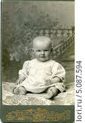 Купить «Дореволюционный кабинетный детский портрет», эксклюзивное фото № 5087594, снято 26 февраля 2020 г. (c) Михаил Ворожцов / Фотобанк Лори