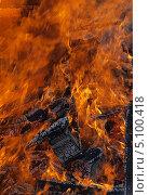 Купить «Огонь - горящее дерево», фото № 5100418, снято 29 сентября 2013 г. (c) SevenOne / Фотобанк Лори
