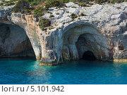 Голубые пещеры на острове Zakinthos (2013 год). Стоковое фото, фотограф Okssi / Фотобанк Лори