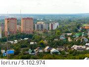 Купить «Панорама города Липецка», эксклюзивное фото № 5102974, снято 3 сентября 2013 г. (c) Володина Ольга / Фотобанк Лори