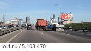 Купить «Москва, третье транспортное кольцо», эксклюзивное фото № 5103470, снято 26 августа 2013 г. (c) Дмитрий Неумоин / Фотобанк Лори