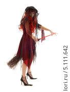 Купить «Рыжая ведьма с метлой», фото № 5111642, снято 30 сентября 2006 г. (c) Syda Productions / Фотобанк Лори