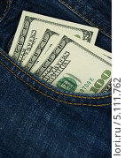 Купить «Доллары в кармане джинсов», фото № 5111762, снято 23 октября 2018 г. (c) Артур Буйбаров / Фотобанк Лори