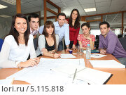 Купить «Дружная команда офиса», фото № 5115818, снято 13 февраля 2010 г. (c) Phovoir Images / Фотобанк Лори