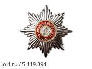 Купить «Звезда ордена Святого Александра Невского», фото № 5119394, снято 29 апреля 2013 г. (c) Угоренков Александр / Фотобанк Лори