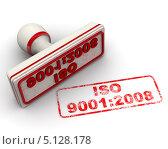 Купить «ISO 9001:2008. Печать и оттиск», иллюстрация № 5128178 (c) WalDeMarus / Фотобанк Лори