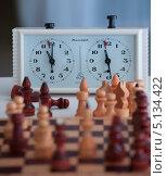 Купить «Шахматы и шахматные часы», фото № 5134422, снято 7 марта 2013 г. (c) Литвяк Игорь / Фотобанк Лори