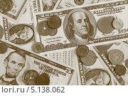 Купить «Деньги. Купюры и монеты», фото № 5138062, снято 5 октября 2013 г. (c) Николай Комаровский / Фотобанк Лори