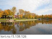 Купить «Осенний пейзаж. Верхнее озеро. Калининград», эксклюзивное фото № 5138126, снято 9 октября 2013 г. (c) Svet / Фотобанк Лори