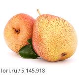 Купить «Две желтых груши», фото № 5145918, снято 28 мая 2012 г. (c) Natalja Stotika / Фотобанк Лори