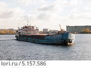Сухогруз Тарту в порту Тольятти (2013 год). Редакционное фото, фотограф Сергей Хрушков / Фотобанк Лори