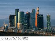 """Купить «""""Москва-Сити"""", деловой бизнес-центр», фото № 5165802, снято 13 октября 2013 г. (c) Алексей Голованов / Фотобанк Лори"""