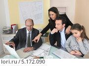 Купить «Сотрудники архитектурного бюро за работой», фото № 5172090, снято 21 января 2010 г. (c) Phovoir Images / Фотобанк Лори
